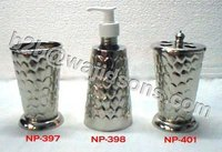 Tooth Brush Holder Nickel Plated Embozed