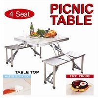 Folding Aluminium Picnic Table with canopy