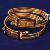 Sleek Gold Bangles