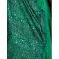 Green Tussar Saree Zari Work