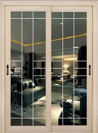 White Oak Glass Door