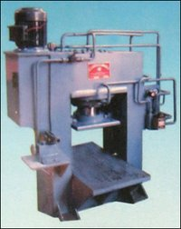 Hydraulic Press With Motorized And Hand Pump Unit