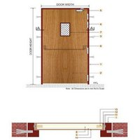 Composite Wooden Fire Smoke/Check Door