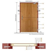 Composite Wooden Fire Door