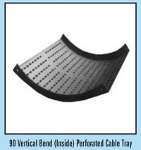90 Vertical Bend (Inside) Perforated Type Cable Tray