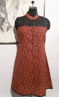 Red Sun Cotton Kurti