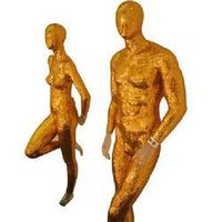 Gold Plated Mannequins