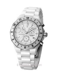 White Zirconium Ceramic Chronograph Sports Watch