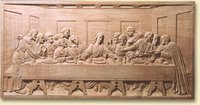 White Wood Carved Last Supper