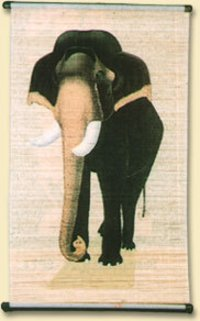 Elephant Bamboo Painting