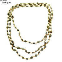 Dark Grey Diamond Beads Necklace