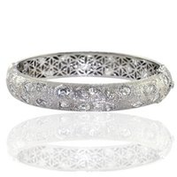 Diamond And White Gold Jewellery Bangle