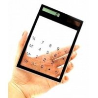 Transparent Touch Pad Solar Power Calculators