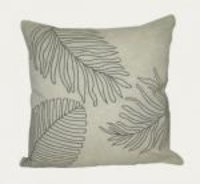 Leaves Embroidery Cushion Cover