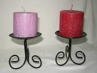 Candle With Iron Stand