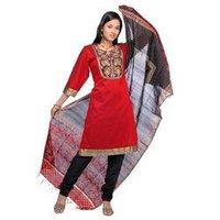 Ladies Printed Border Suits