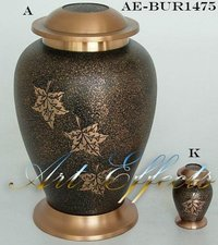 Falling Leaves Brass Cremation Urn