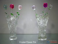 Colour Crystal Flower Pot