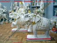 Marble Statues Of Elephants