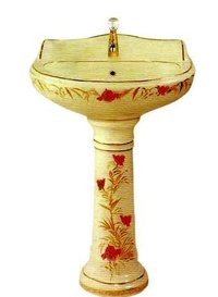Floral Designed Wash Basin