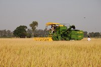 Agricultural Tractor Mounted Harvester Combine