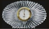 Oval Shape Crystal Clock