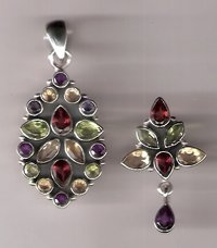 Silver Pendant Earring Sets