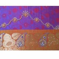 Double Shaded Purple Base Saree