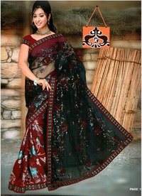 Sequence Work Embroidered Saree