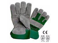 GREY COLOR SPLIT LEATHER PALM GLOVE