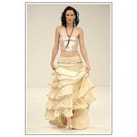 Frilled Evening Dress