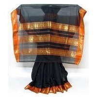 Black Cotton Sarees