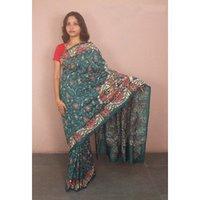 Green Kantha Silk Sarees