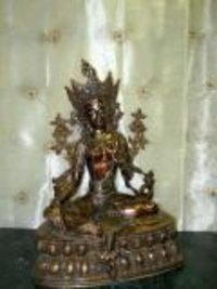 Buddhist Savior-goddess Brass Sculpture