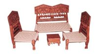 Handcrafted Wooden Sofa Set