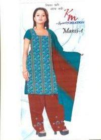 Unstitched Ladies Bandhani Suits