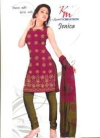 Unstitched Ladies Cotton Dress Material
