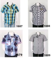 Cotton Yarn-Dyed Check / Stripes Boys Shirts