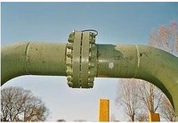 Asme Type Flange On A Gas Pipeline