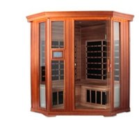4 Persons Corner Infrared Sauna Room 9 Carbon Nano Heaters