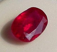 Large Oval Ruby