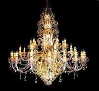 Designer Copper Crystal Chandeliers