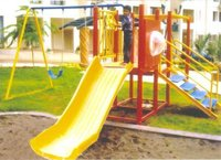 Mini Tower Platform With Kids Frp Slide