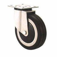 Caster With Rubber Wheel