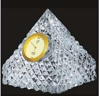 Pyramid Shape Crystal Clock