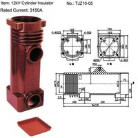 12kV TJZ10-05 Epoxy Resin Cylinder Insulator for MV Switchgear