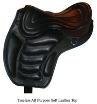Treeless All Purpose Soft Leather Top Saddle