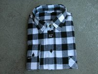 Swiss Flannel Black And White Checks Shirts