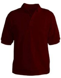 Plain Polo Maroon T-shirt