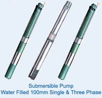 Water Filled 100mm Single And Three Phase Submersible Pump